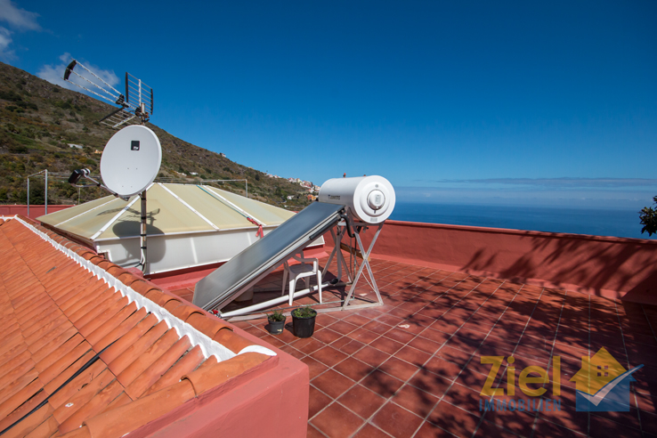 Solaranlage für das Warmwasser im Hotel