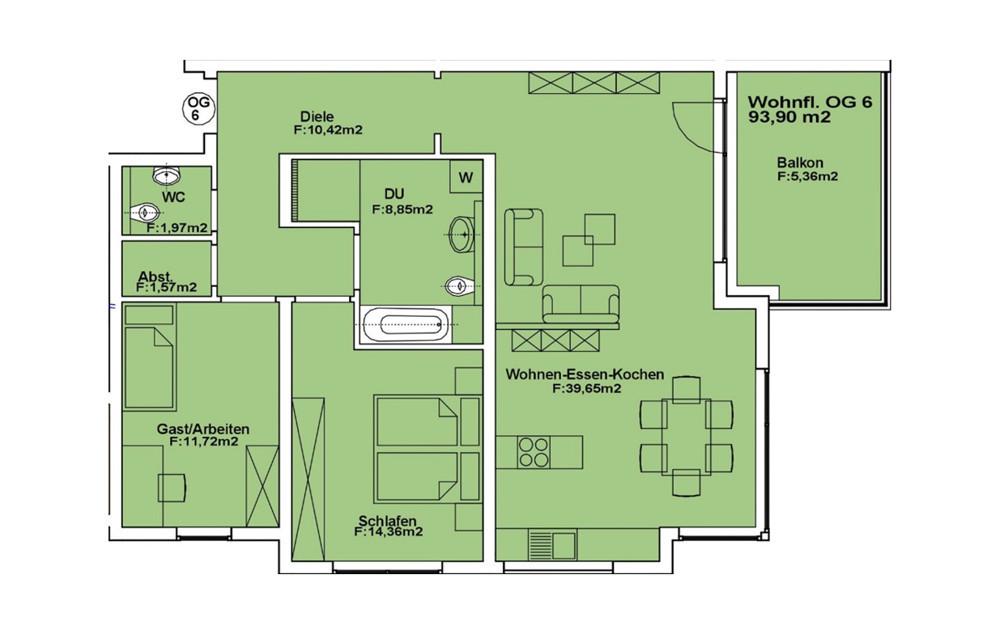 Wohnung 6 OG