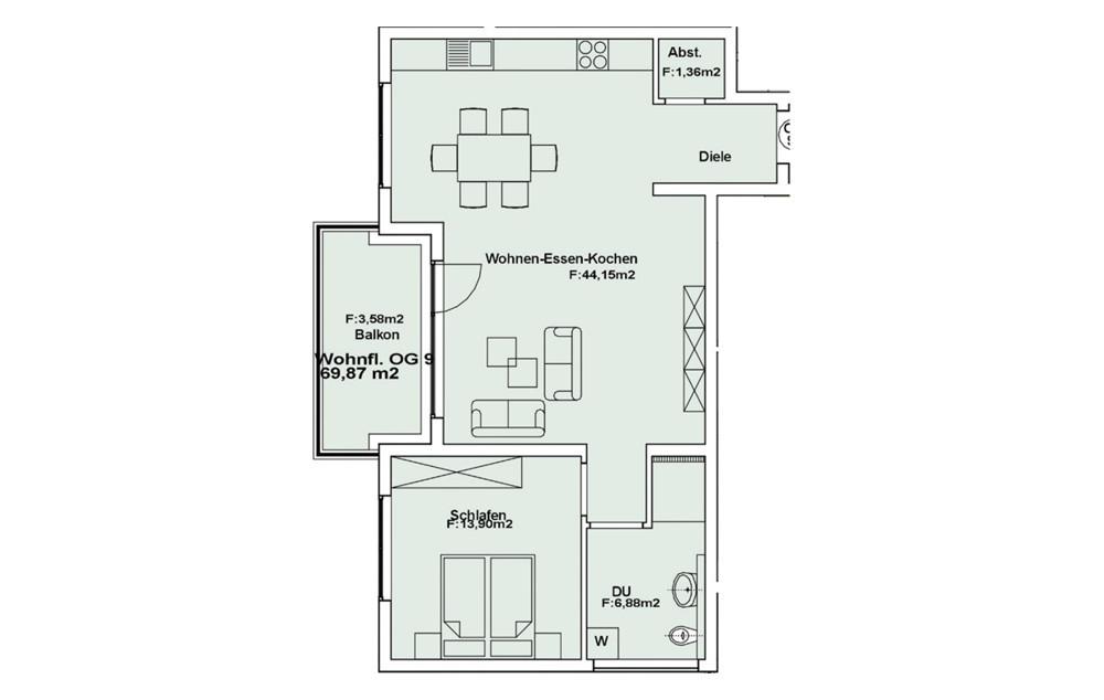 Wohnung 9 OG