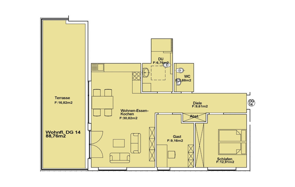 Wohnung 14 DG