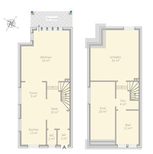 Erdgeschoss // Obergeschoss
