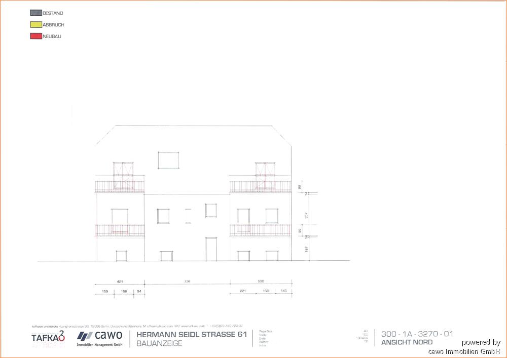 Rückseite Haus m. Balkonen HSS61