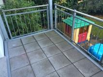 Balkon zur Gartenseite