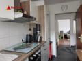 Die Küche vom Fenster aus gesehen