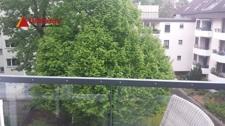 Viel Grün vom Balkon aus