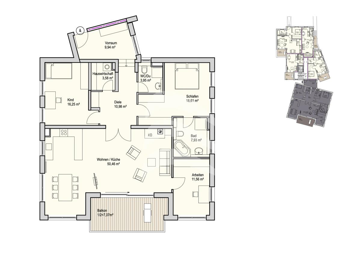 Grundriss, INN81, BAIII, Wohnung 4