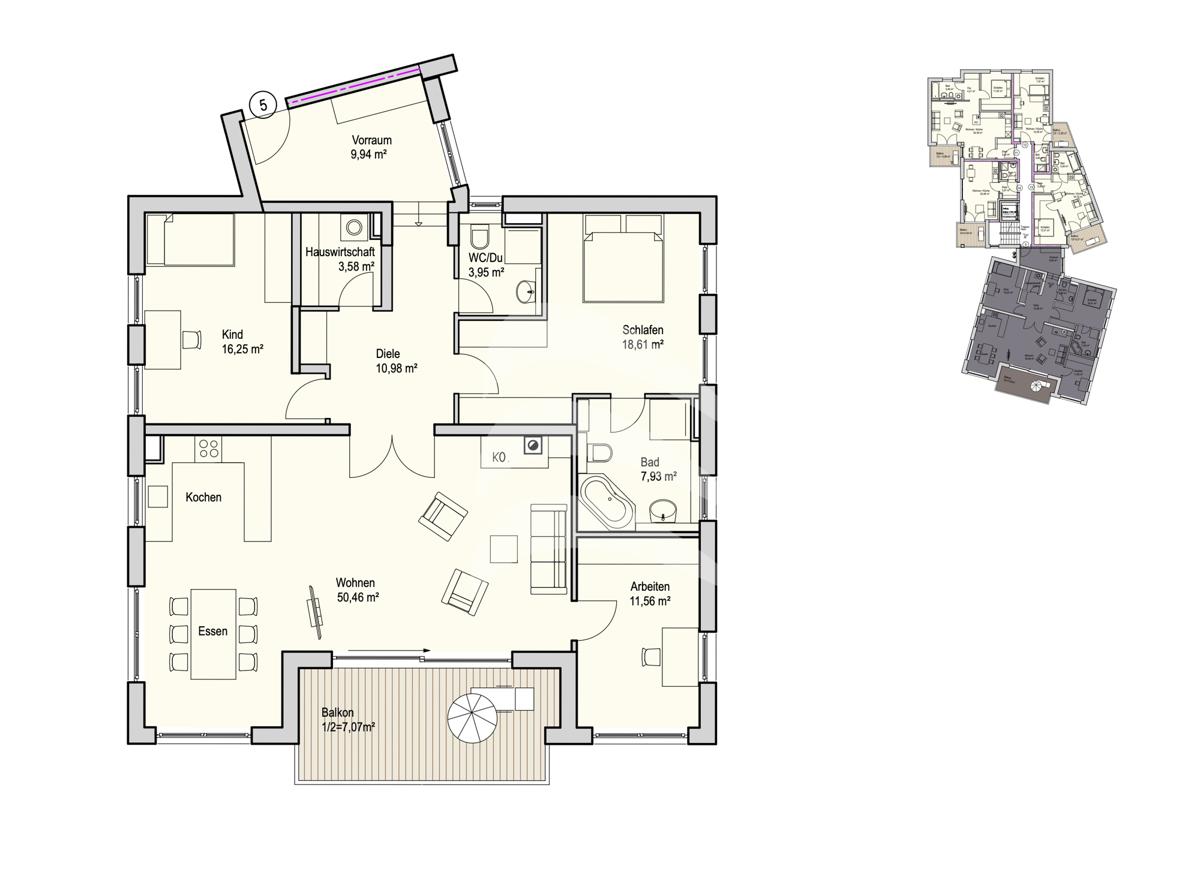 Grundriss, INN81, BAIII, Wohnung 5