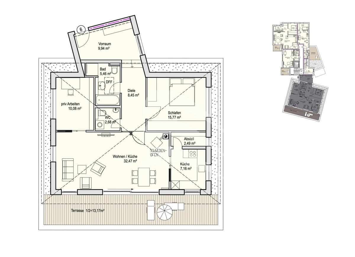 Grundriss, INN81, BAIII, Wohnung 6