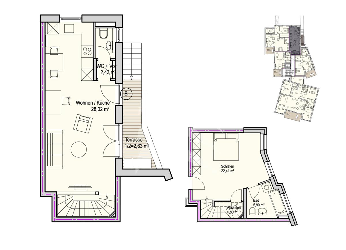 Grundriss, INN81, BAIII, Wohnung 8