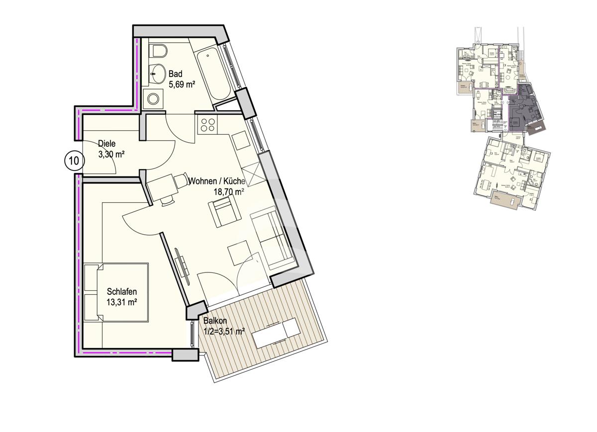 Grundriss, INN81, BAIII, Wohnung 10
