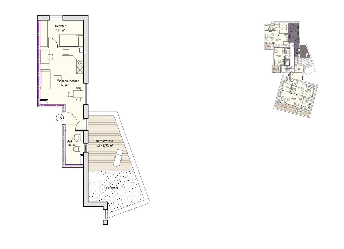 Grundriss, INN81, BAIII, Wohnung 16