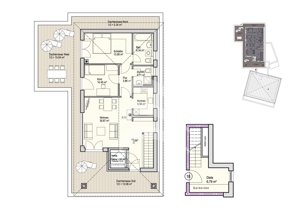 Grundriss, INN81, BAIII, Wohnung 18