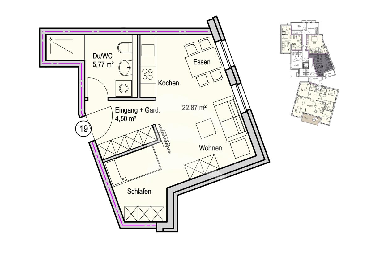 Grundriss, INN81, BAIII, Wohnung 19