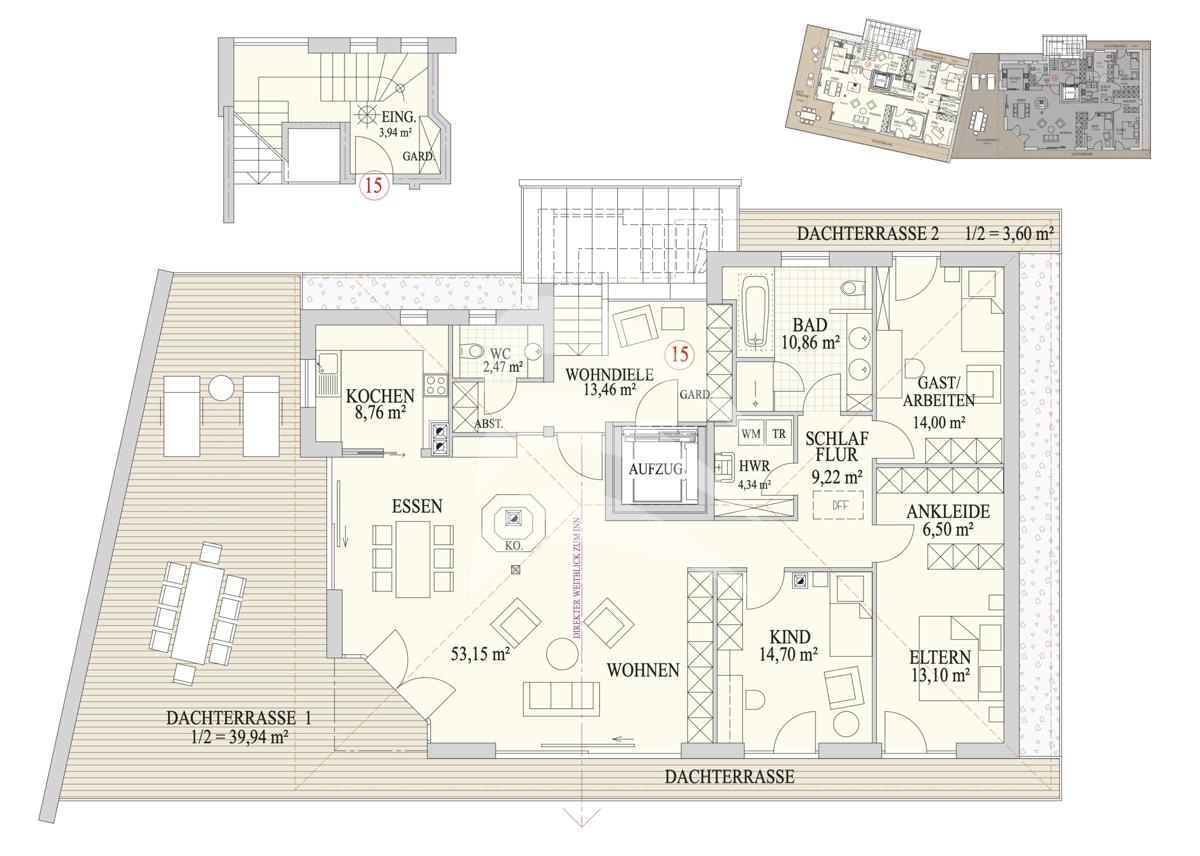 Grundriss, INN81, BAIV, Haus 29, Wohnung 15