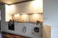 Küche mit eingebauter Waschmaschine