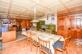 Wohn- und Essbereich mit Kachelofen