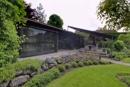 Gartenhaus und Grillbereich
