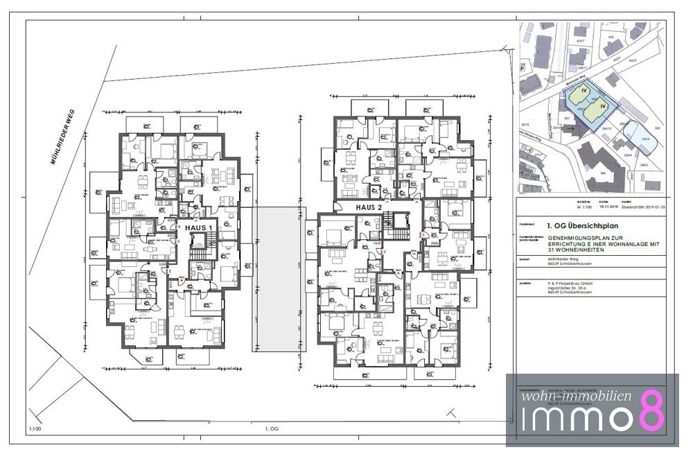 1. Obergeschoss Haus 1 und 2