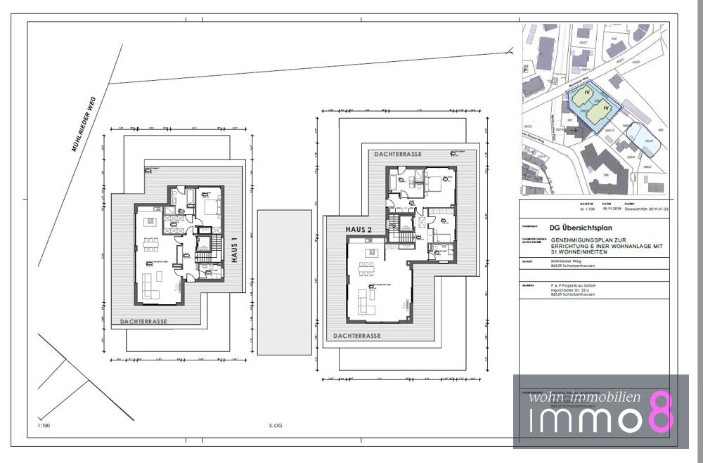 Dachgeschoss Haus 1 und 2