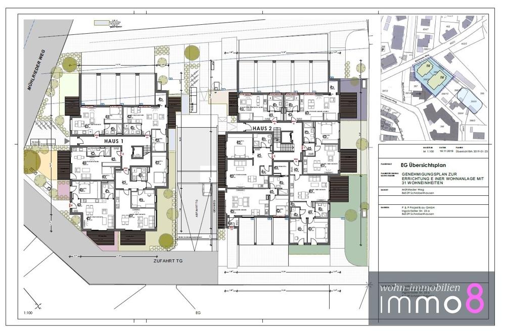 Erdgeschoss Haus 1 und 2