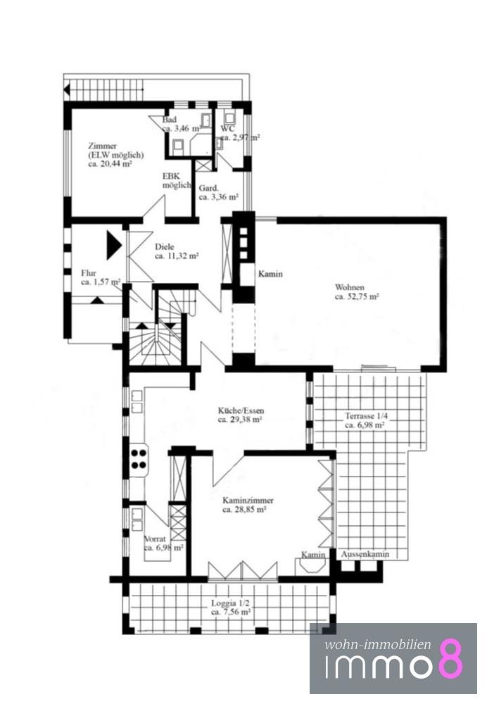 Erdgeschoss ca. 172,3 m²