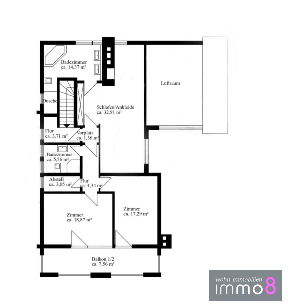 Obergeschoss ca. 140 m²