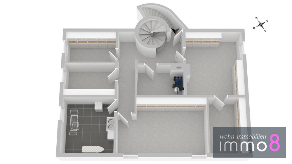 Grundriss UG  nach Renovierung 3-D