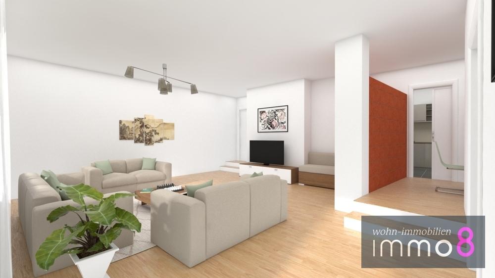 Wohnzimmer EG visuell