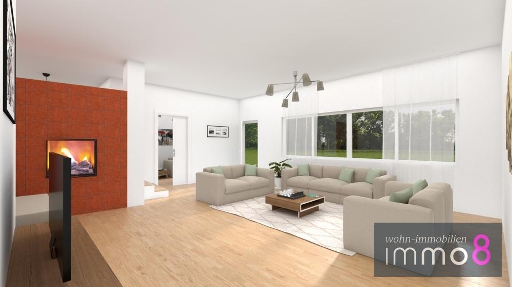 Wohnzimmer EG visuell Zugang Terrasse