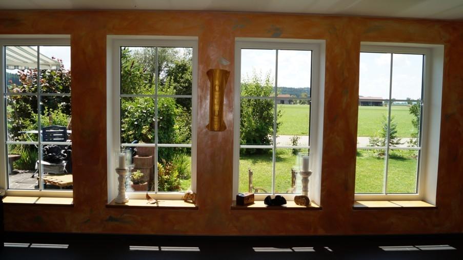 Sicht vom Wohnzimmer