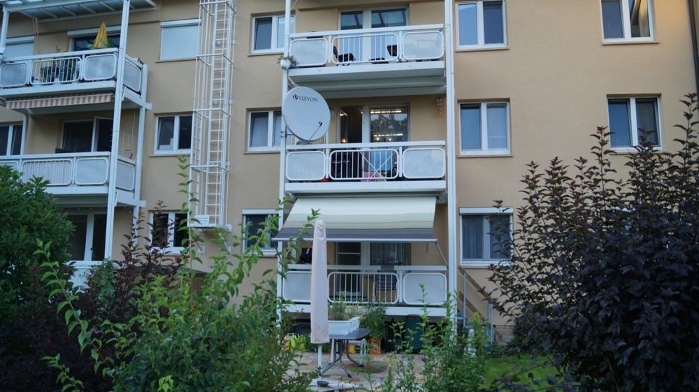 Ansicht Balkonfassade