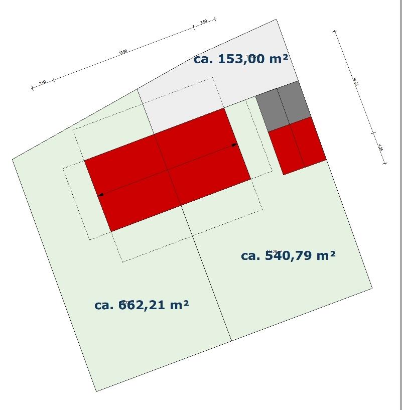 Grundstücksaufteilung Gröbenzell-Nord