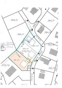 Lageplan 781 m²