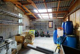Werkstatt an die Garage angeschlossen