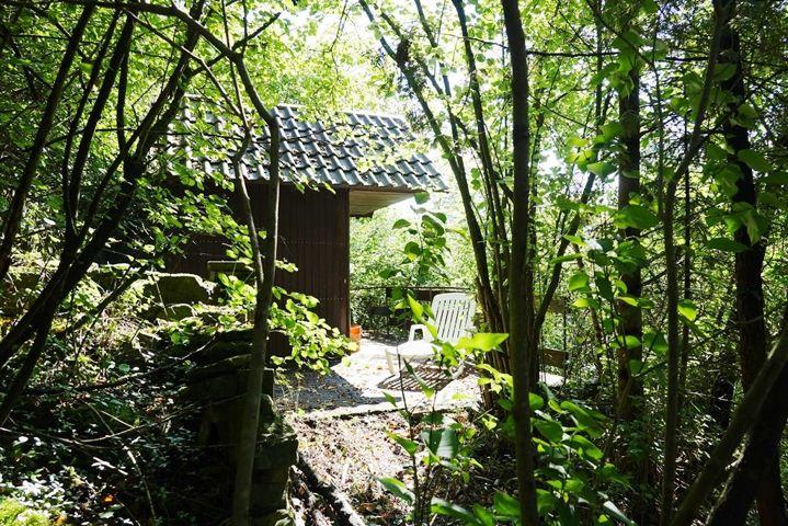 Hütte mit Teilüberdachung