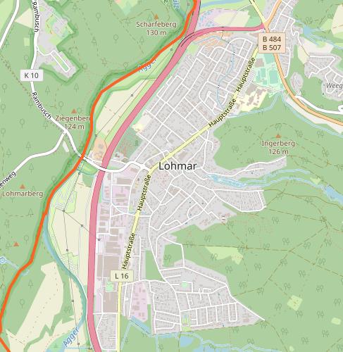 Lageplan Lohmar-Ort