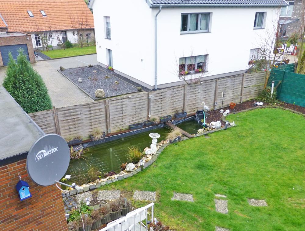 Teilanblick Garten vom 1.OG