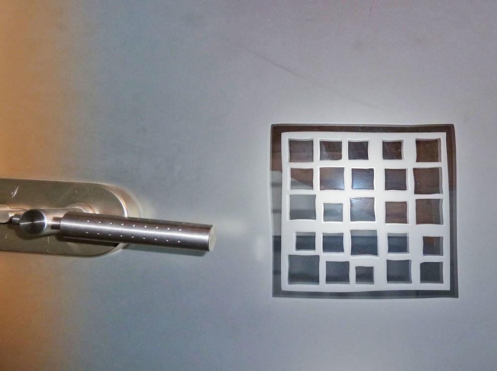 Detail Glastüre