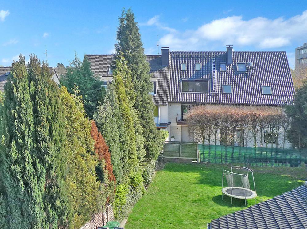 Gartenblick Balkon