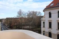 Blick vom Straßenbalkon, WE 15