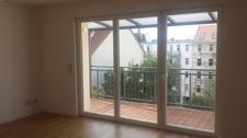 Wohnzimmer Zugang zum Balkon