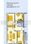 Typ A+C 3 Zimmer 61,4 m²