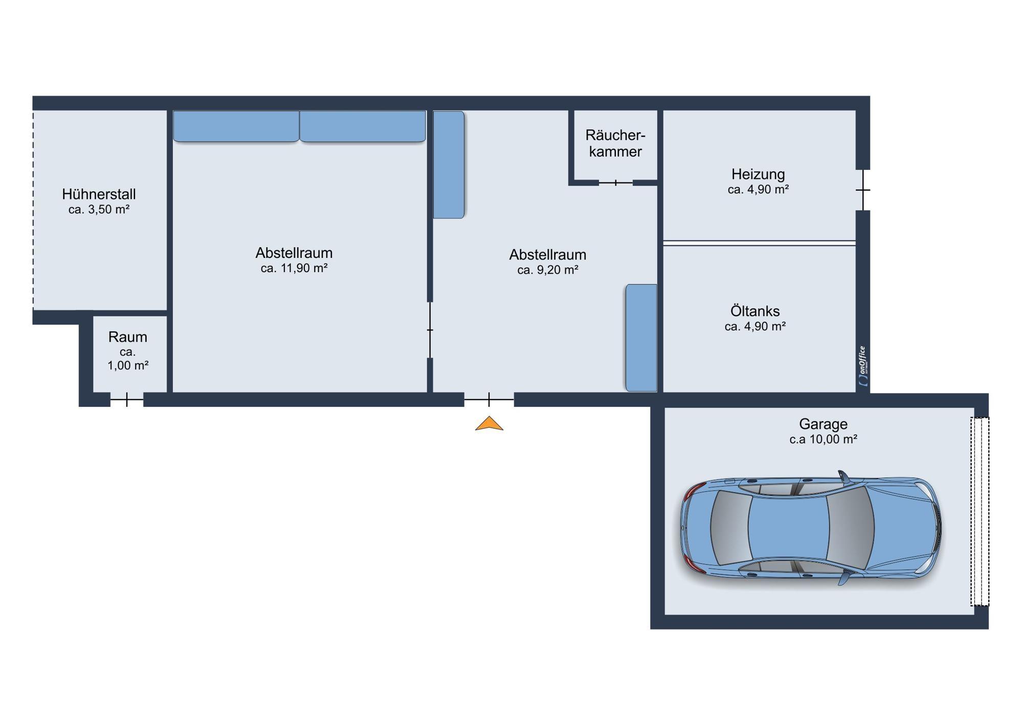 Nebengebäude und Garage