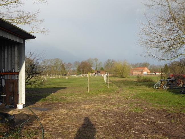 Blick auf das Anwesen