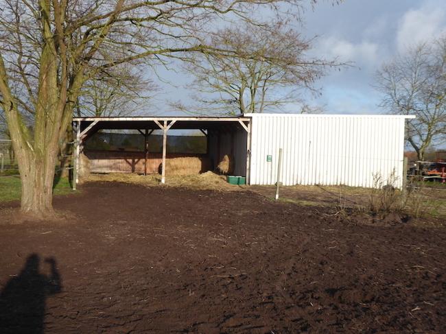 Offen-Stall auf der Weide