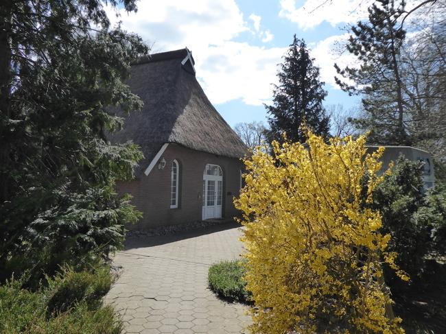 Aufffahrt und Eingang Wohnhaus