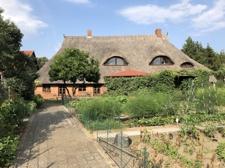 Haus-Ansicht von Gemüsegarten aus
