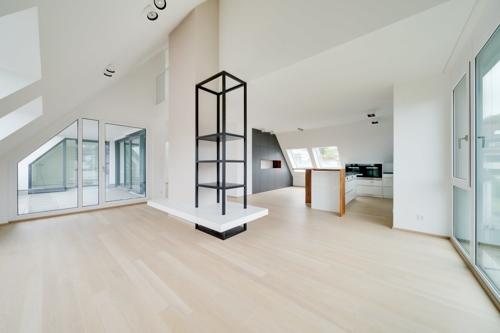Wohnzimmer Blick in die Küche