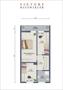 Variante Obergeschoss,  Aufteilung in 3 Zimmer