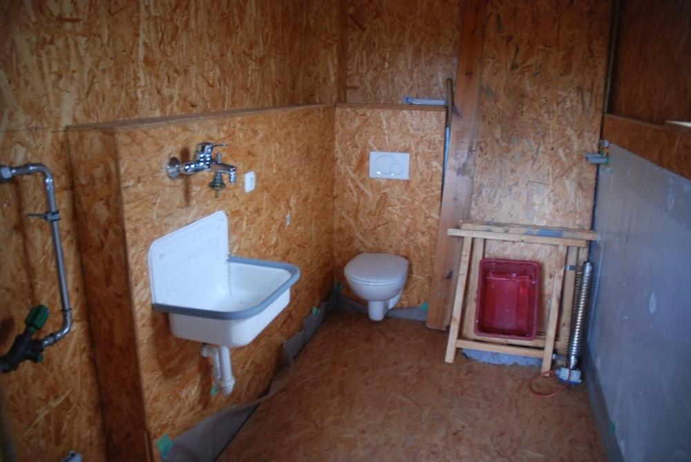 Sanitärbereich Rückseite Aufenthaltsraum